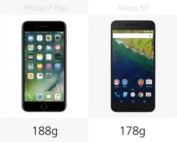 iPhone 7 Plus和Nexus 6P规格参数对比的照片 - 3