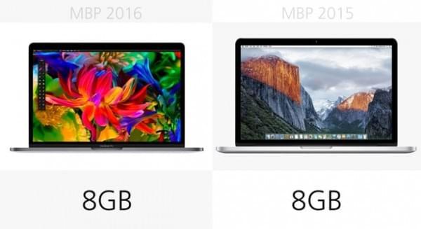 前后两代13英寸MacBook Pro规格参数对比的照片 - 11