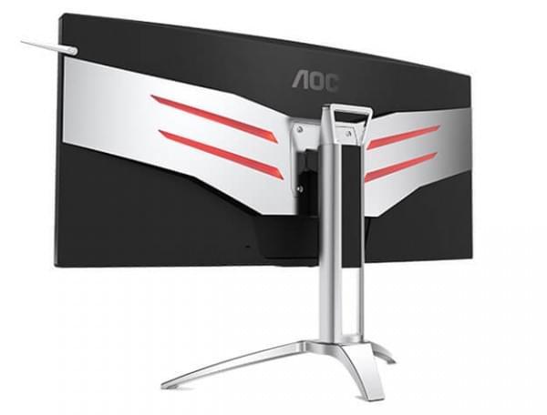 35寸带鱼屏+G-Sync AOC发布曲面电竞显示器新品的照片 - 2