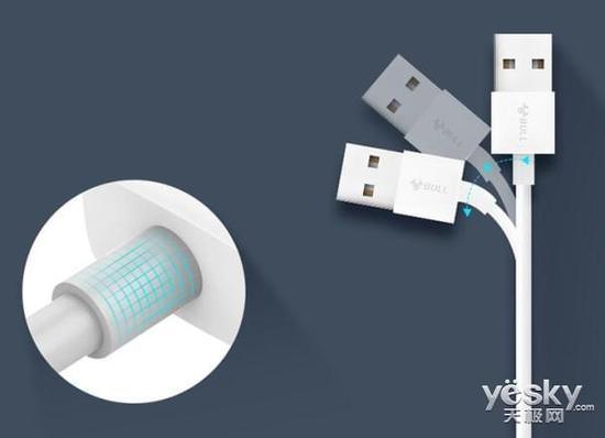 手机的最佳CP 公牛抗折断数据线J710发售中