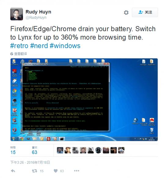 Windows 10跳窗:Chrome耗电更快 推荐使用Edge的照片 - 3