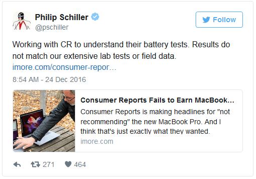 苹果高管:正与消费者报告接触 了解 MBP 电池测试的照片 - 2