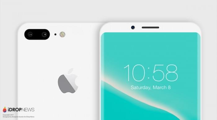 设计师绘制出亮黑色和亮白色iPhone 8概念渲染图的照片 - 4