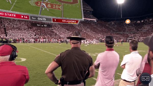 用VR看橄榄球赛是一种怎样的体验:你被晃晕了没?的照片