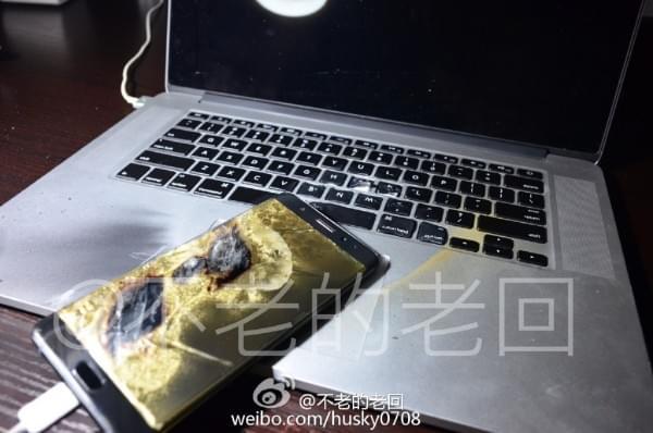 网友曝国行三星Note 7再次充电爆炸:刚买两天不到的照片 - 3