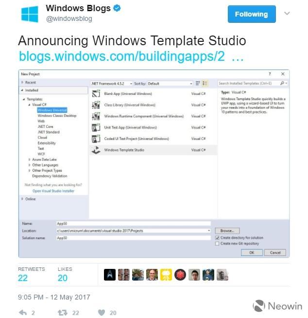 微软发布Windows Template Studio:简化UWP应用开发的照片 - 2