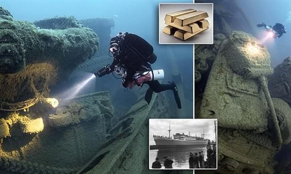 """探险家花25年终于找到二战""""黄金沉船""""的照片 - 1"""