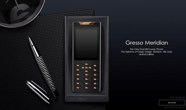 镶钻+5级钛 Gresso售价21万的限量奢侈功能机发布的照片 - 2