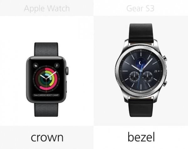 Apple Watch Series 2和三星Gear S3规格参数对比的照片 - 16