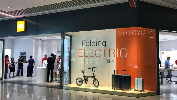 小米在新加坡开设第一家海外零售店的照片