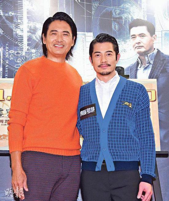 1-01-周润发与郭富城昨天(10月29日)出席庆功宴,贺电影《无双》全球票房接近15亿。