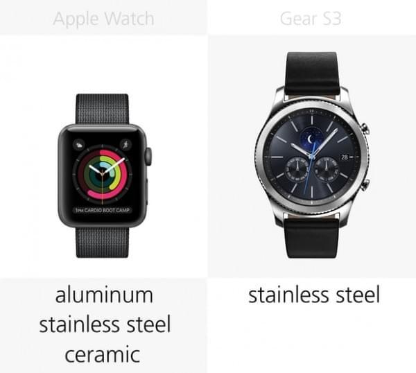 Apple Watch Series 2和三星Gear S3规格参数对比的照片 - 4