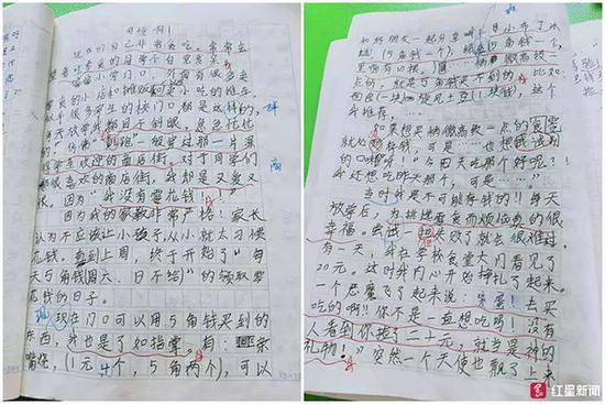 德阳小学生作文《可怜啊》刷爆网络 哀叹零花钱少