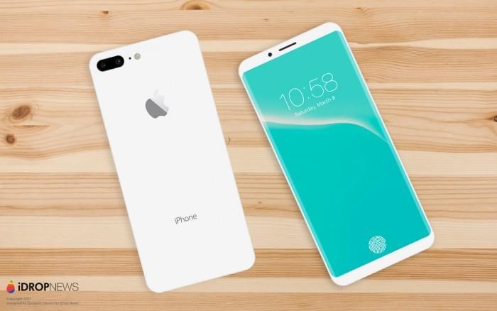 设计师绘制出亮黑色和亮白色iPhone 8概念渲染图的照片 - 2