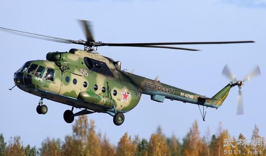 俄罗斯一架米-8直升机坠毁 机上18人全部遇难