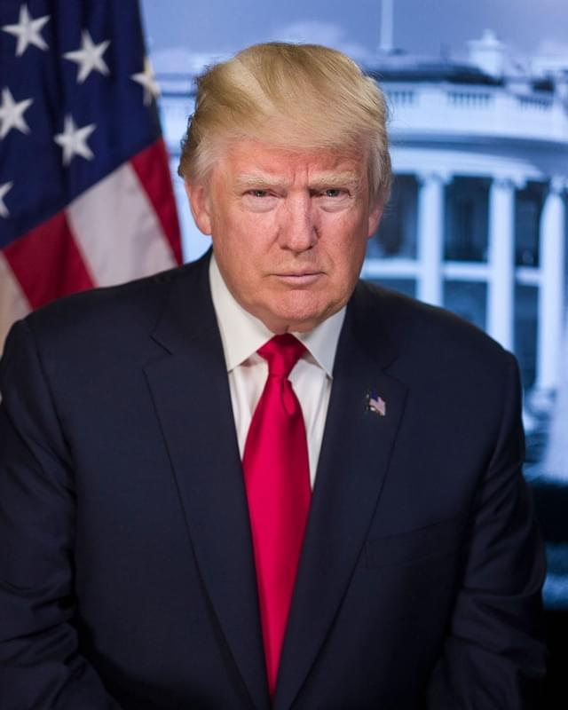 美国新任总统特朗普官方肖像公布 采用佳能相机拍摄的照片 - 1