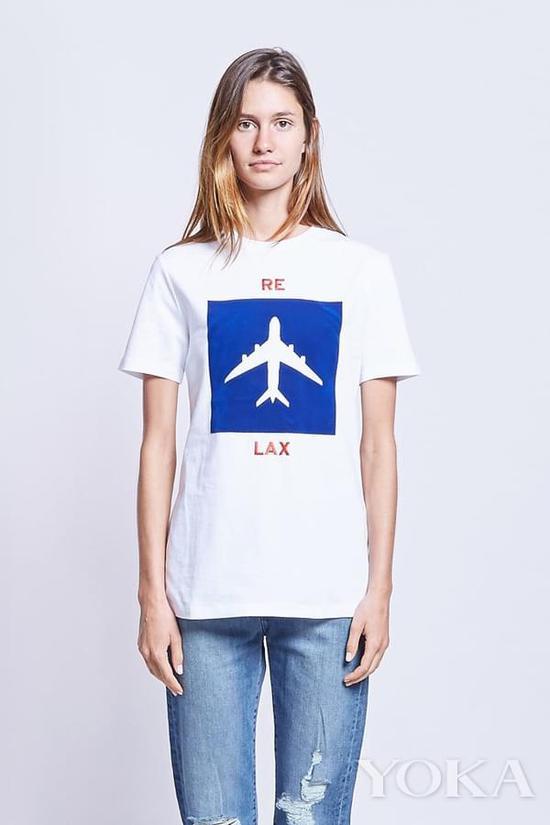 飞机图案Tee