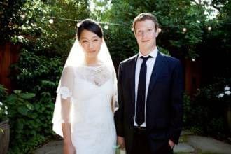 Mark Zuckerberg和老婆Priscilla Chan