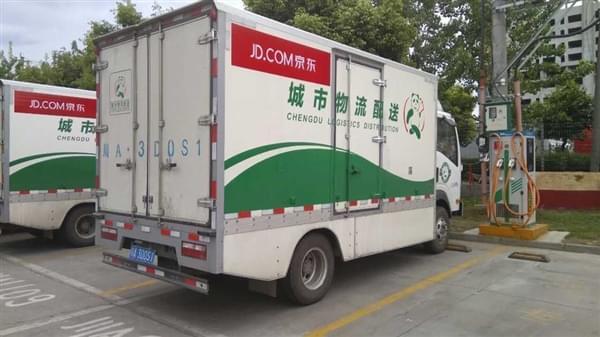 刘强东:5年内全换成自己研发的电动货车的照片 - 2