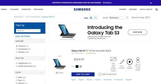 5799元起:国行三星Galaxy Tab S3开售的照片 - 2