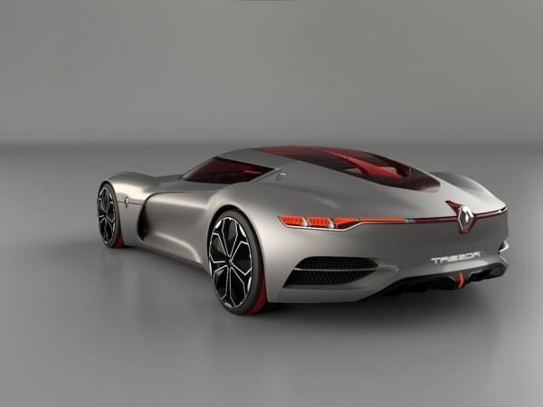 雷诺发布Trezor概念电动超跑:使用蛤壳式车门的照片 - 26