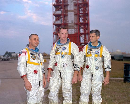 阿波罗1号三名乘组成员(图片来源:NASA)