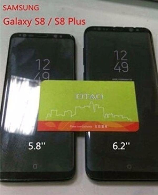 Galaxy S8/S8+排排坐:正方形虚拟Home亮相的照片