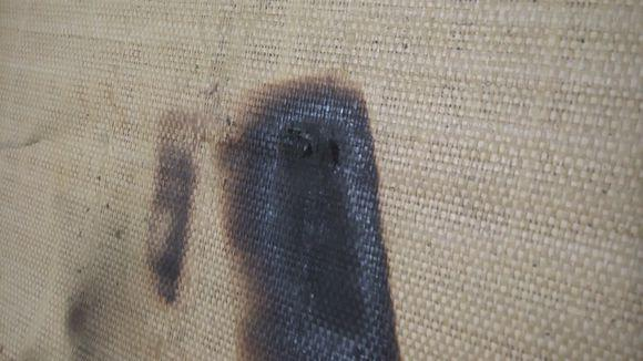 疑似国行三星Galaxy Note 7第二炸:凉席烧出洞的照片 - 3