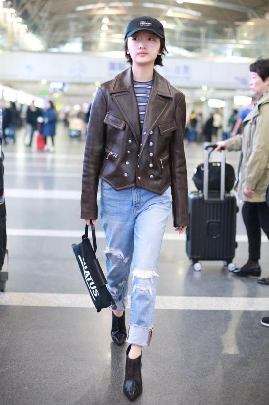 """穿皮夹克的时候又到了!想不""""型""""都难"""