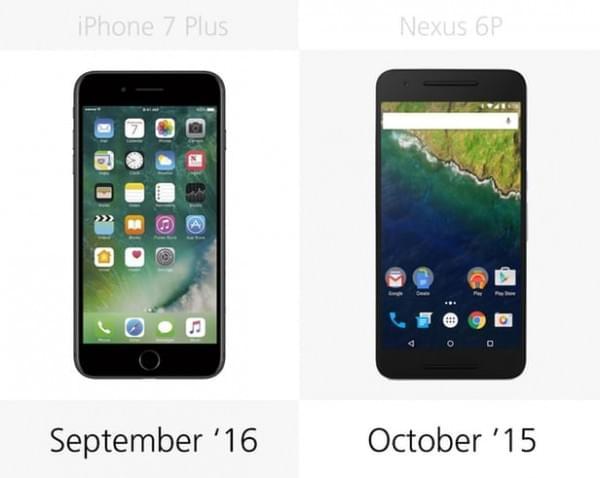 iPhone 7 Plus和Nexus 6P规格参数对比的照片 - 26