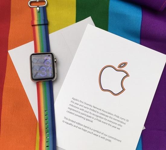 苹果为LGBT傲娇月推出了限量款Apple Watch彩虹表带的照片 - 2