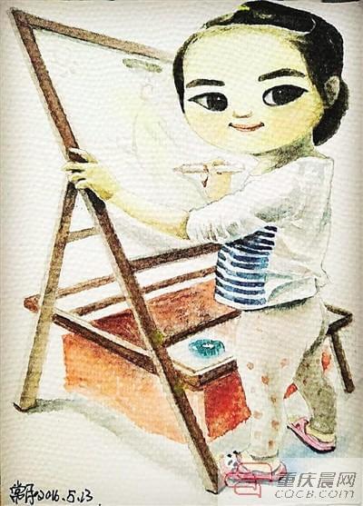 豆苗,妈妈用画笔陪你长大