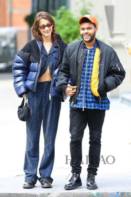 贝拉·哈迪德 (Bella Hadid) 和男友The Weeknd于2018年10月29日在纽约外出