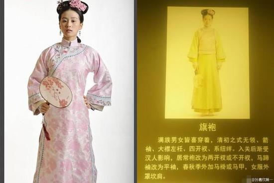 """刘诗诗美照成""""故宫展品"""" 旗袍装神还原获认证"""