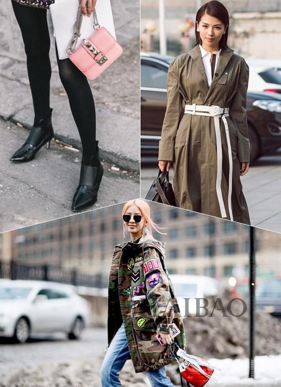 早春时髦三法宝:水桶包、长腰带、猫跟鞋