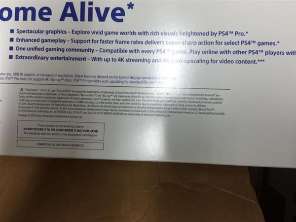 索尼PS4 Pro包装盒曝光的照片 - 3