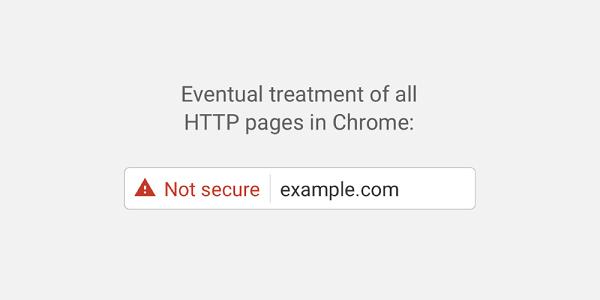 """从Chrome 56开始:Google将把某些HTTP网页标记为""""不安全""""的照片 - 1"""