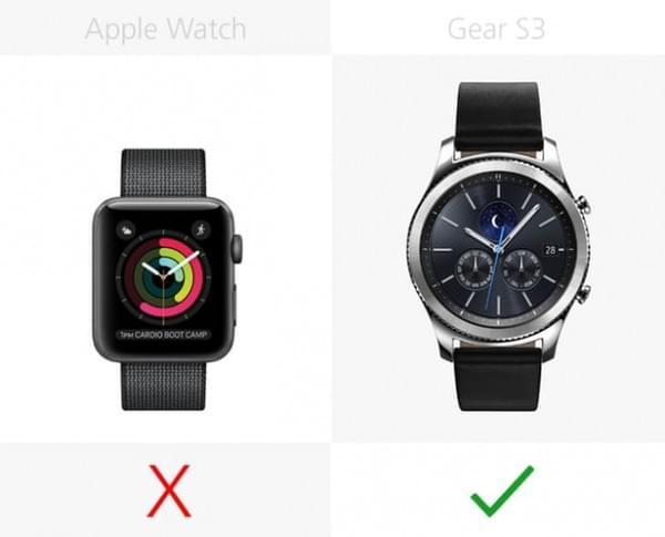 Apple Watch Series 2和三星Gear S3规格参数对比的照片 - 7