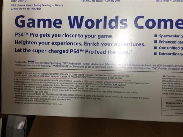 索尼PS4 Pro包装盒曝光的照片 - 4
