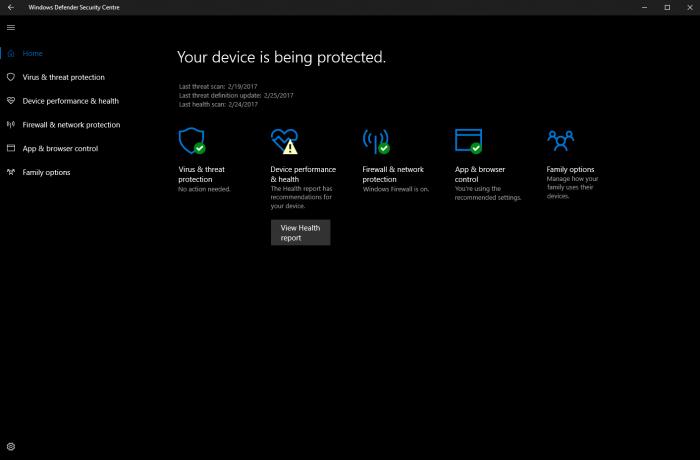 Windows 10 build 15042公布:Windows Defender获改善的照片 - 1