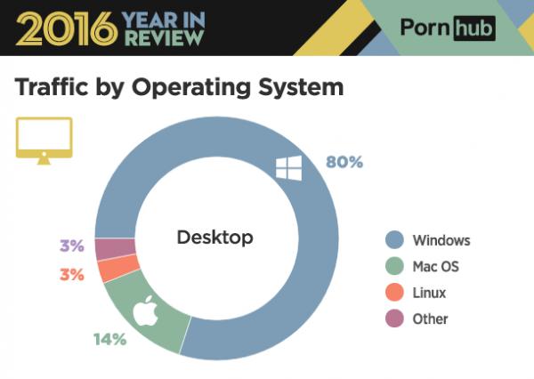 PornHub年度报告:61%流量来自手机 桌面端80%来自Windows的照片 - 2