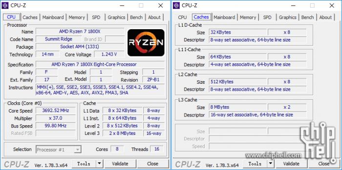 锐龙 AMD Ryzen 7 1800x 评测的照片 - 4
