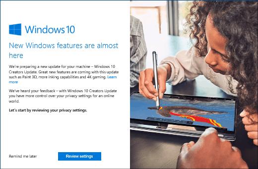 微软官博:Windows10创作者更新的隐私设置介绍的照片 - 1