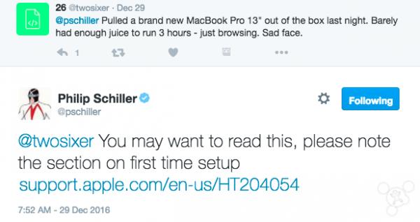 席勒回应新MacBook Pro电池问题:初次设置要注意的照片 - 2