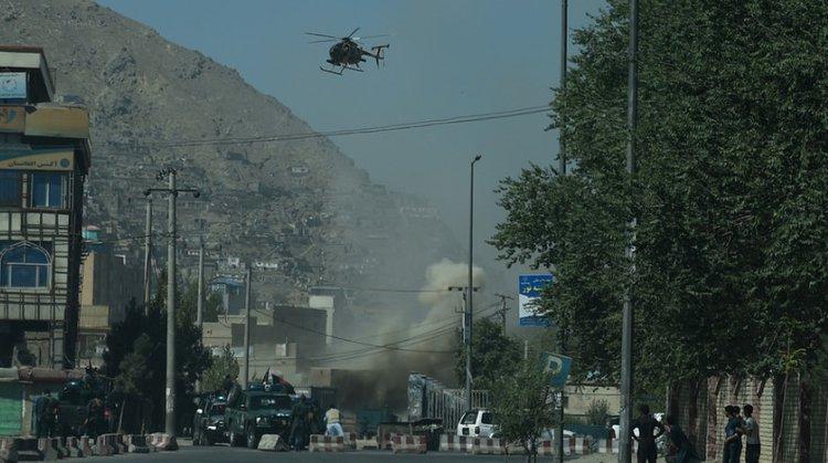 21日 不明恐怖分子袭击了喀布尔市中心