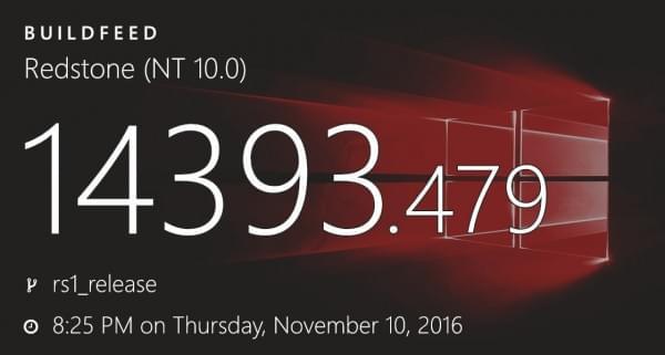 Windows 10周年更新获累积更新 版本升至14393.479的照片 - 1
