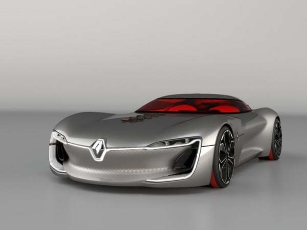雷诺发布Trezor概念电动超跑:使用蛤壳式车门的照片 - 25