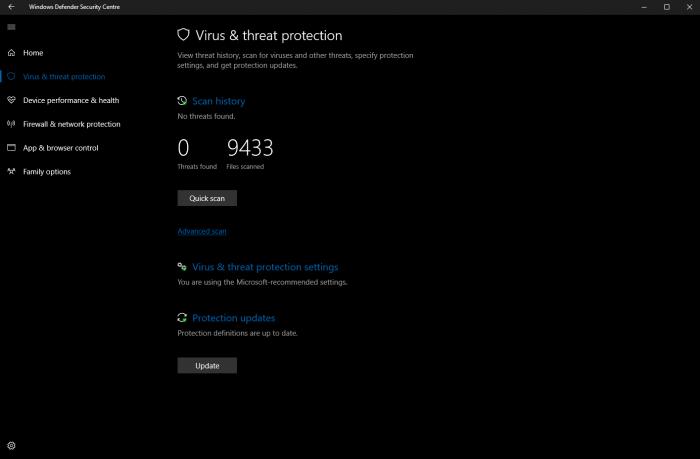 Windows 10 build 15042公布:Windows Defender获改善的照片 - 3