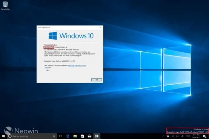 Windows 10 Build 15055发布:正式启用Version 1703的照片 - 1