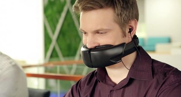 自带消音面罩的无线耳机 开放办公室也能谈笑风生的照片 - 1
